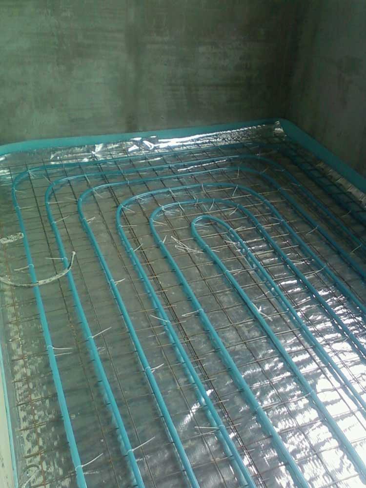 Водяной теплый пол - основная система отопления