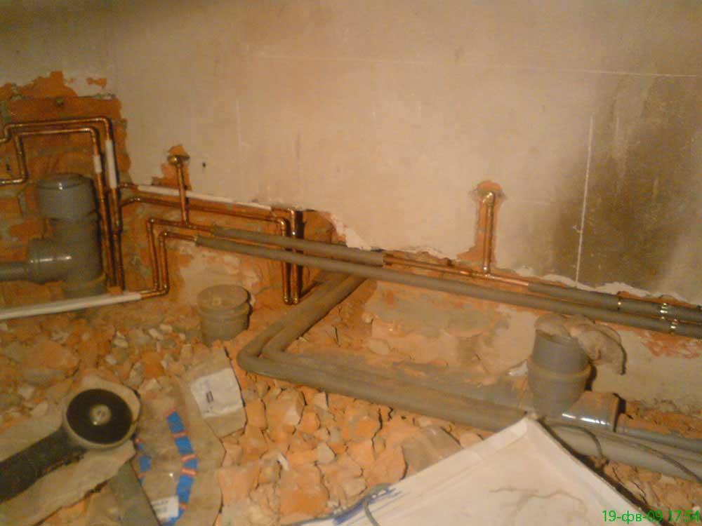 Монтаж системы водоснабжения и канализации