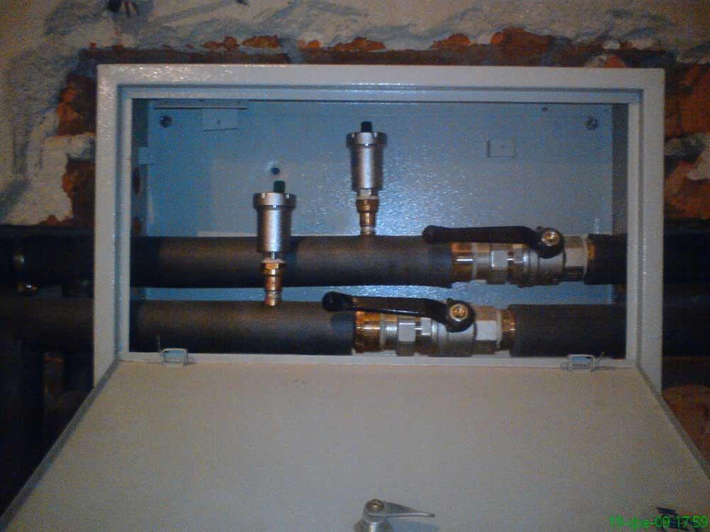 Шкаф ввода системы отопления