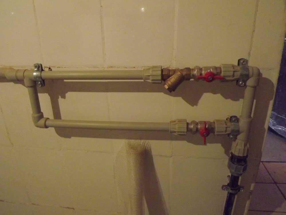 Рамка холодной воды (без установленного водосчетчика)