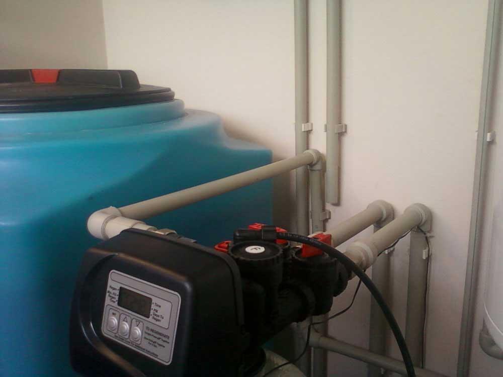 Система водоочистки. Клапан обезжелезивания