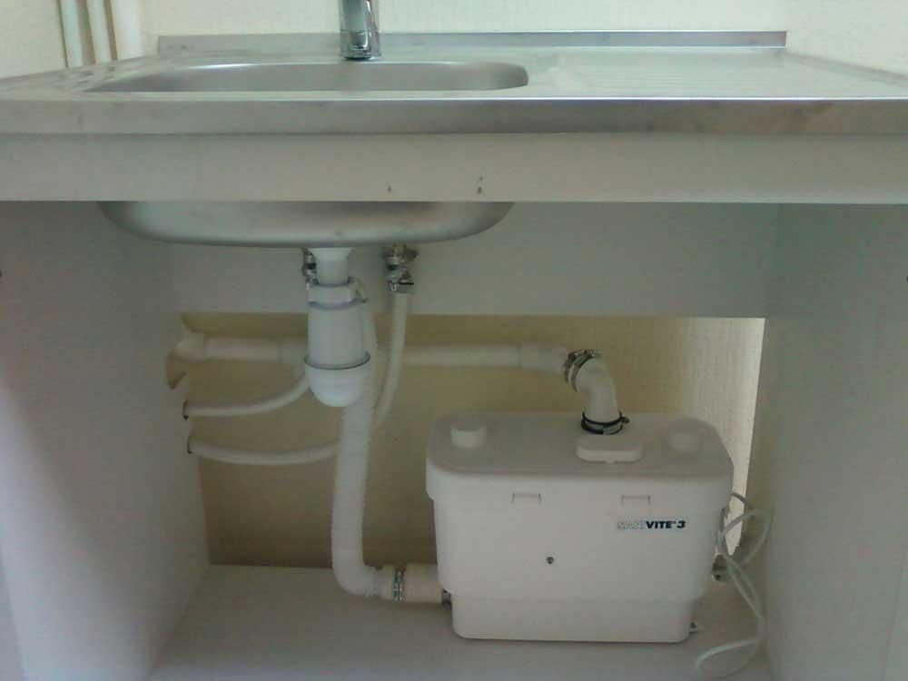 Канализационный насос (для установки раковины при удаленной канализации)